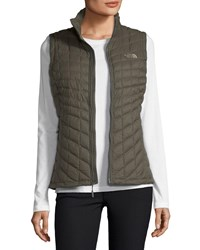 The North Face Thermoball Quilted Puffer Vest Taupe Green Matte