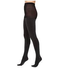 Hue Metallic Ribbed Tights Black Women's Casual Pants