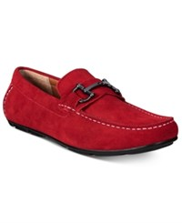 Alfani Men's James Suede Drivers With Bit Only At Macy's Men's Shoes Red