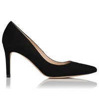 Lk Bennett L.K.Bennett Floret Pointed Court Shoes Black Suede