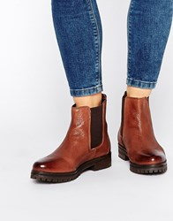 Rule London Chunky Leather Chelsea Boots Cognac