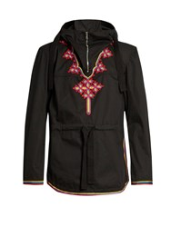 Stella Mccartney Embroidered Hooded Parka Black Multi