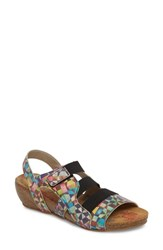 Cloud Duffy Wedge Sandal Mystere Leather