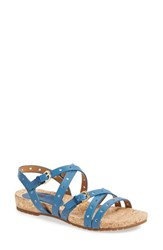 Women's Sofft 'Malana' Leather Sandal French Blue