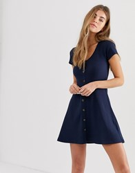 Hollister Ribbed Mini Dress Navy