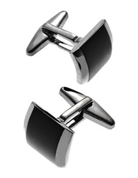 Kenneth Cole Square Cuff Links Silver