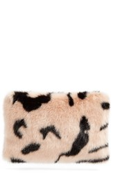 Shrimps Hubbard Faux Fur Zip Clutch