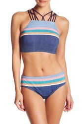 Sperry Shipmate High Neck Bikini Top Blue