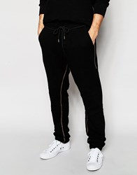 True Religion Zip Edge Tapered Joggers Black