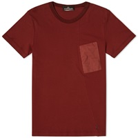 Stone Island Shadow Project Nylon Pocket Tee Bordeaux