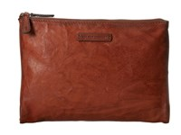 Frye Michelle Tech Clutch Cognac Antique Soft Vintage Clutch Handbags Tan