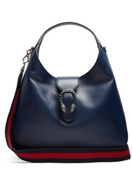 Gucci Dionysus Hobo Leather Shoulder Bag Navy