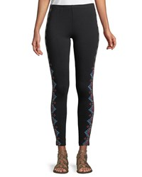 Johnny Was Sonoma Embroidered Leggings Plus Size Black