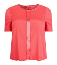 Basler Satin Detail Top Female Pink
