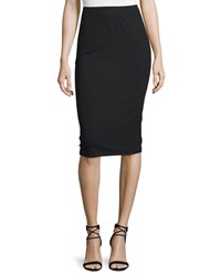 Eileen Fisher Calf Length Pencil Skirt Black Petite Women's