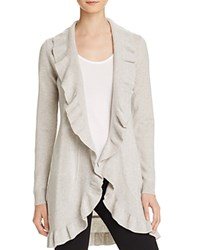 Bloomingdale's C By Ruffled Cashmere Cardigan Frost