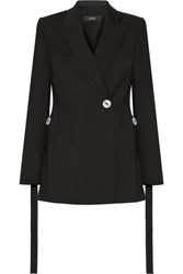 Ellery Gene Button Embellished Stretch Crepe Blazer Black