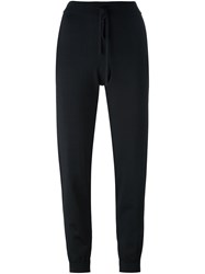Donna Karan Tapered Track Pants Black