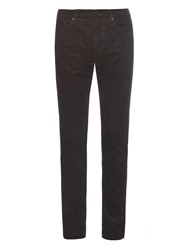 Burberry Straight Leg Cotton Blend Corduroy Trousers