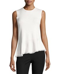 Theory Briselle Sleeveless Peplum Top Eggshell