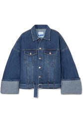 Sjyp Oversized Denim Jacket Blue