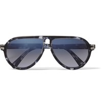 Brioni Aviator Style Acetate Sunglasses Black