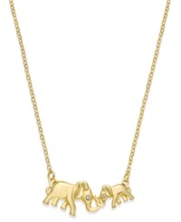 Kate Spade New York 12K Gold Plated Crystal Double Elephant Pendant Necklace