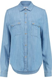 7 For All Mankind Uniform Chambray Shirt Light Denim