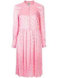 Baum Und Pferdgarten Floral Embroidered Dress Pink