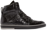Jimmy Choo Black Patent Bradley High Top Sneakers