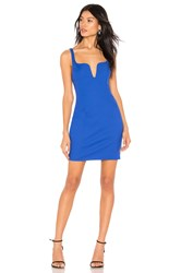 By The Way Cici Square Neck Mini Dress Royal