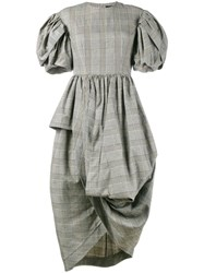 Simone Rocha Prince Of Wales Checked Dress Grey