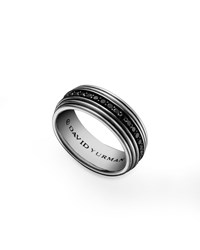 Royal Cord Ring Pave Black Diamonds David Yurman