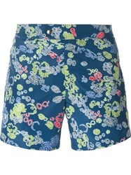 Jil Sander Printed Swim Shorts Blue