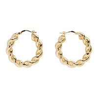 J.W.Anderson Jw Anderson Gold Twisted Hoop Earrings