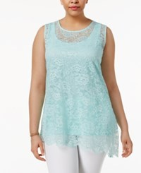 Alfani Plus Size Layered Look Lace Tank Only At Macy's Tear Drop