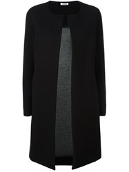 P.A.R.O.S.H. Collarless Slim Fit Coat Black
