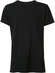 John Elliott Diamond Stitched T Shirt Black