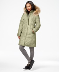 Madden Girl Madden Girl Faux Fur Trim Long Parka