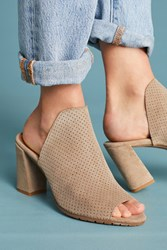 Matt Bernson Garde Perforated Heeled Mules Sand
