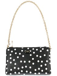 Dolce And Gabbana Polka Dot Print Pouch Black