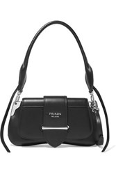 Prada Sidonie Leather Shoulder Bag Black