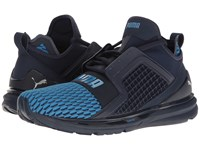 Puma Ignite Limitless Color Block Peacoat French Blue Men's Shoes Gray