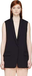 Rag And Bone Navy Francois Vest