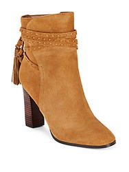 Saks Fifth Avenue Leather Ankle Boots Cognac
