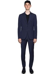 Z Zegna Slim Fit Tech Wool Wash'n Go Suit Blue