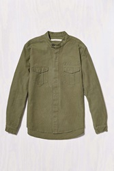 Shades Of Grey By Micah Cohen Military Overshirt Taupe