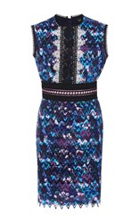 Saloni Trudi Sleeveless Mini Dress Purple