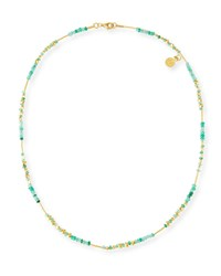 Gurhan Delicate Rain Strand Necklace W Emeralds