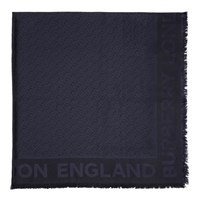 Burberry Navy Silk Monogram Scarf